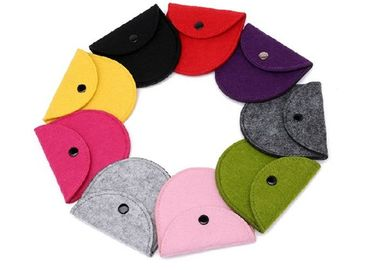 43 Kinds Of Color Handmade Felt Coin Bags 11.5*9.5 Cm Small Felt Bags