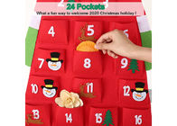 Wall Hanging 2mm Felt Xmas Decorations Christmas Advent Countdown Calendar